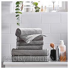 ВИКФЬЕРД Полотенце, серый, 30x50 см, фото 3