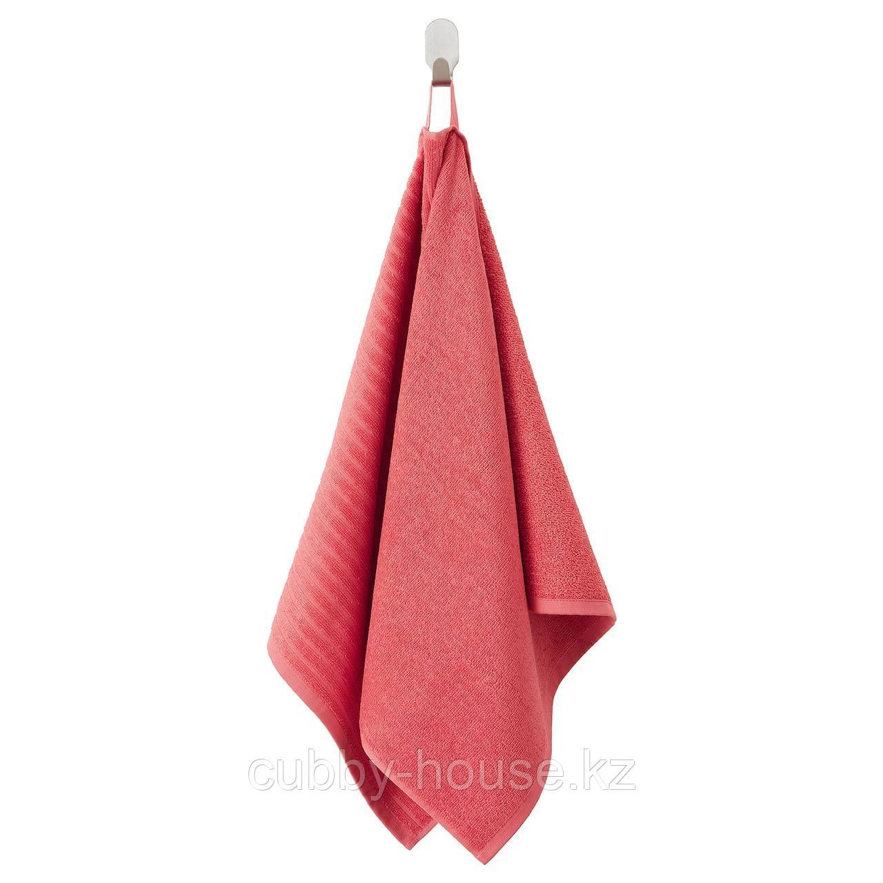 ВОГШЁН Полотенце, светло-красный, 50x100 см