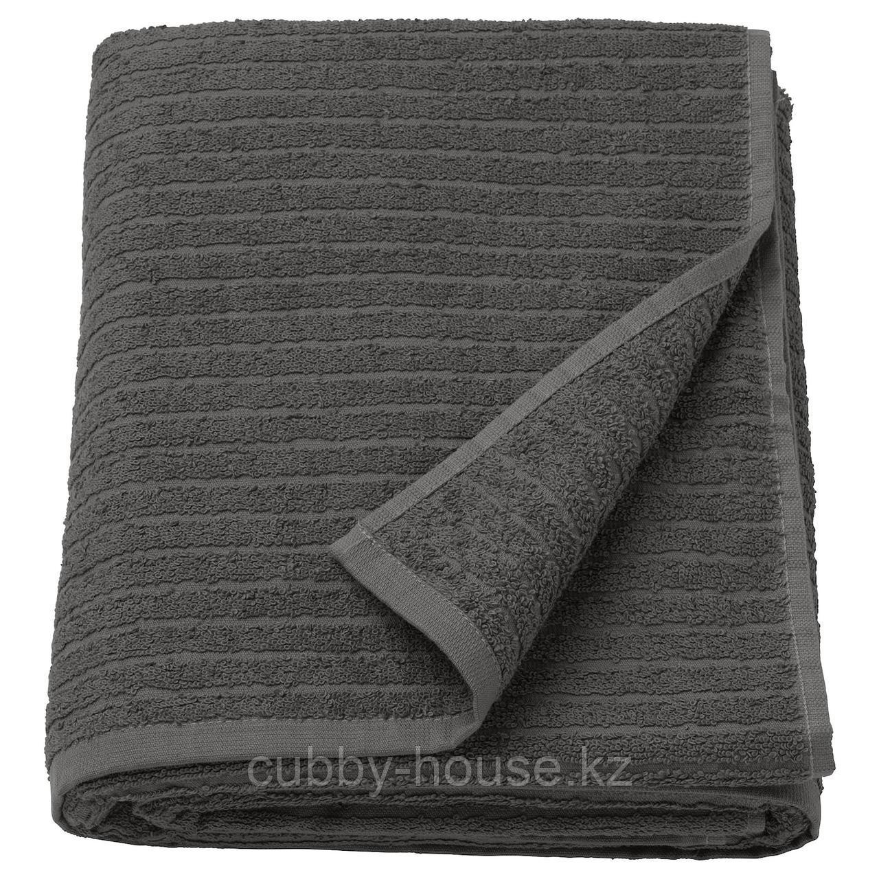 ВОГШЁН Простыня банная, темно-серый, 100x150 см