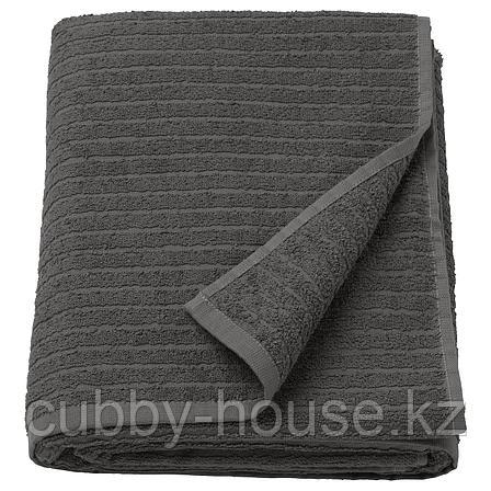 ВОГШЁН Простыня банная, темно-серый, 100x150 см, фото 2