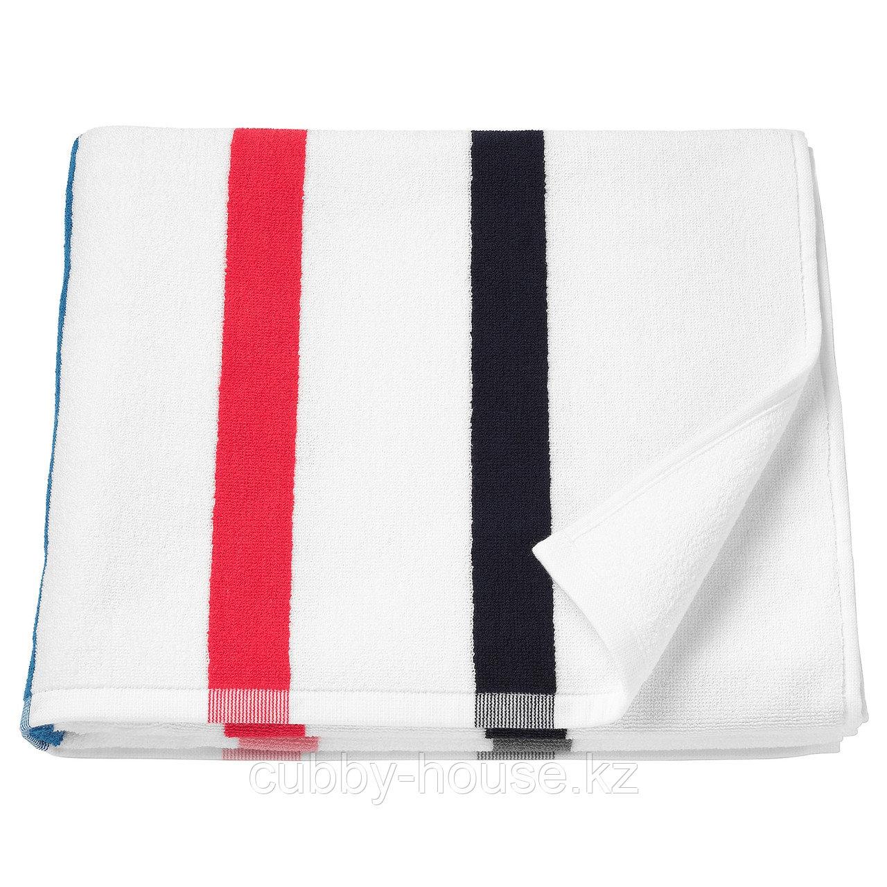 ФОСКОН Банное полотенце, белый, разноцветный, 70x140 см