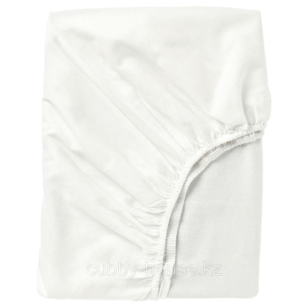 ФЭРГМОРА Простыня натяжная, белый, 140x200 см