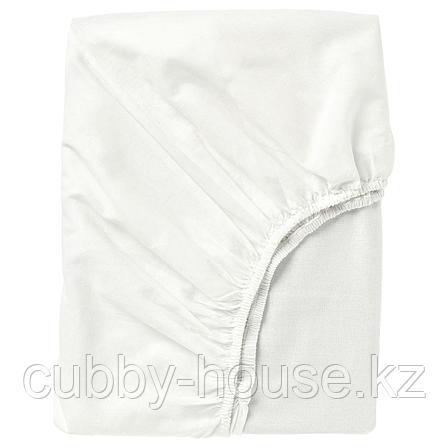 ФЭРГМОРА Простыня натяжная, белый, 140x200 см, фото 2