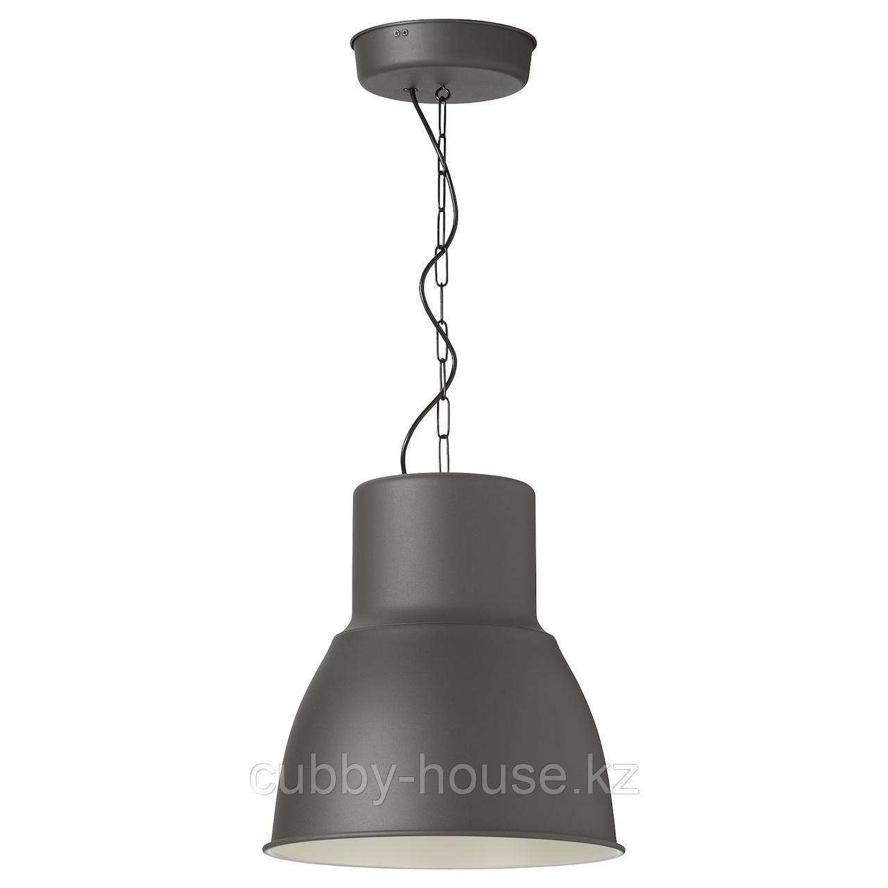 ХЕКТАР Подвесной светильник, темно-серый, 38 см