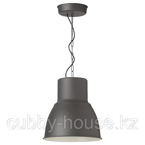 ХЕКТАР Подвесной светильник, темно-серый, 38 см, фото 2