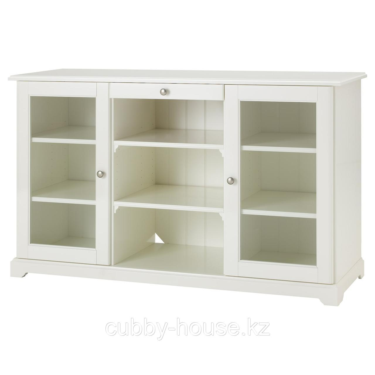ЛИАТОРП Сервант, белый, 145x87 см