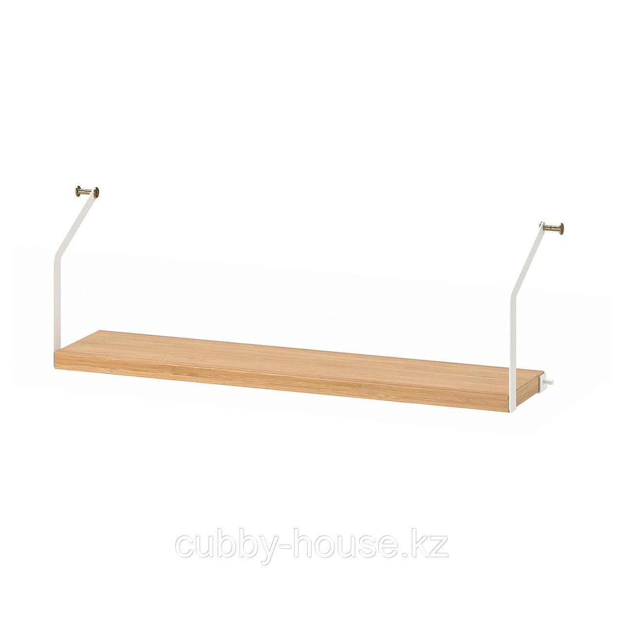 СВАЛЬНЭС Полка, бамбук, 61x15 см