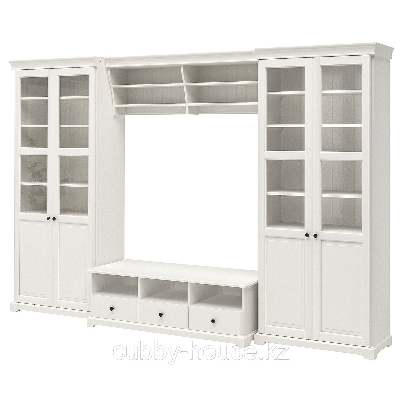 ЛИАТОРП Шкаф для ТВ, комбинация, белый, 332x214 см