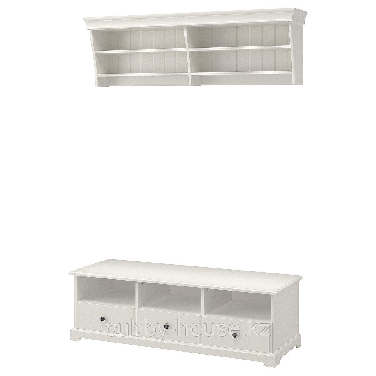 ЛИАТОРП Шкаф для ТВ, комбинация, белый, 145x49 см