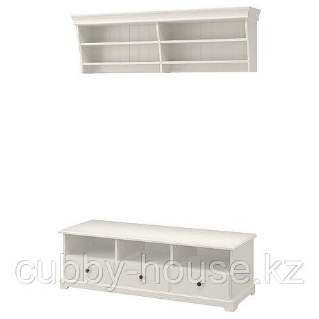 ЛИАТОРП Шкаф для ТВ, комбинация, белый, 145x49 см, фото 2