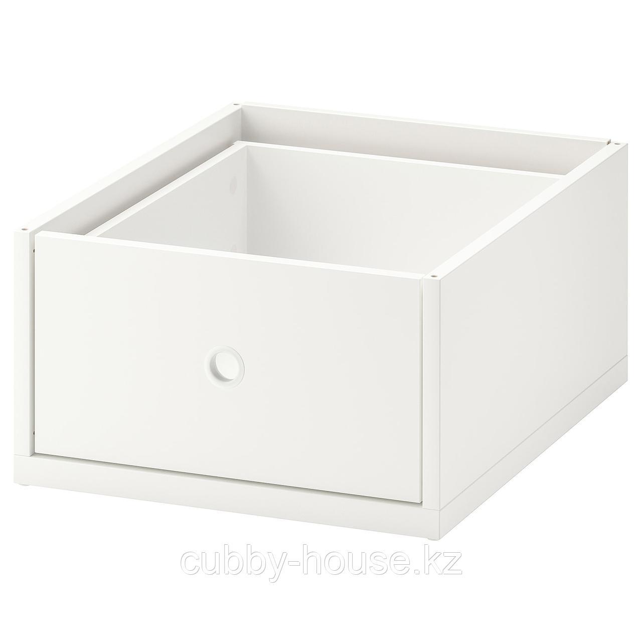 ЭЛВАРЛИ Ящик, белый, 40x51 см