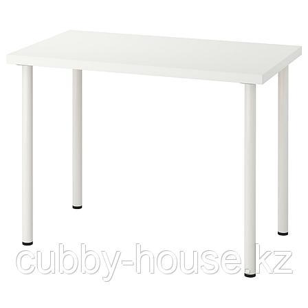 ЛИННМОН / АДИЛЬС Стол, белый, 100x60 см, фото 2