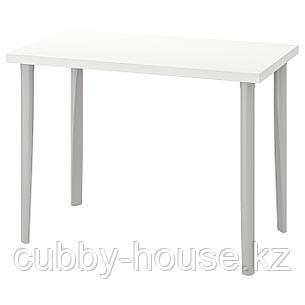 ЛИННМОН / ТОРСКЛИНТ Стол, белый, светло-серый, 100x60 см, фото 2