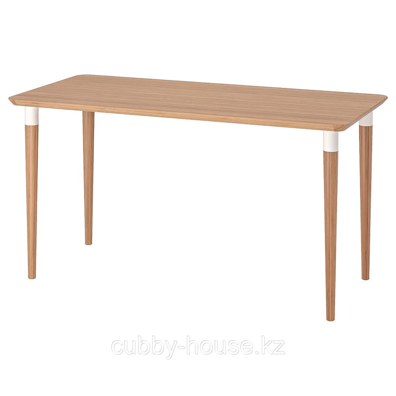 ХИЛВЕР Стол, бамбук, 140x65 см