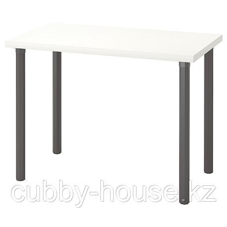 ЛИННМОН / АЛЬВАРЭТ Стол, белый, серый, 100x60 см, фото 2