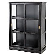 МАЛЬШЁ Шкаф-витрина, черная морилка, 103x48x141 см