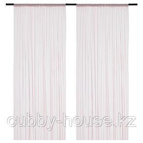 ХИЛЬДРАН Гардины, 2 шт., розовый, точечный, 145x300 см, фото 2