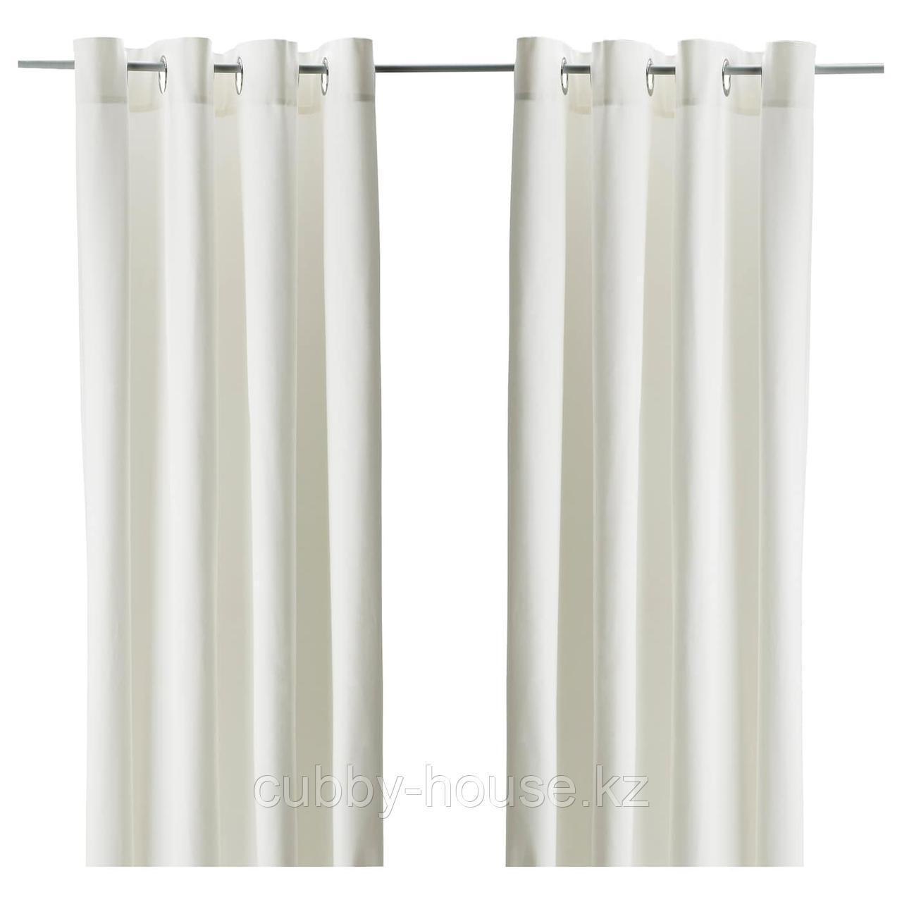 МЕРЕТЕ Затемняющие гардины, 1 пара, белый, 145x300 см