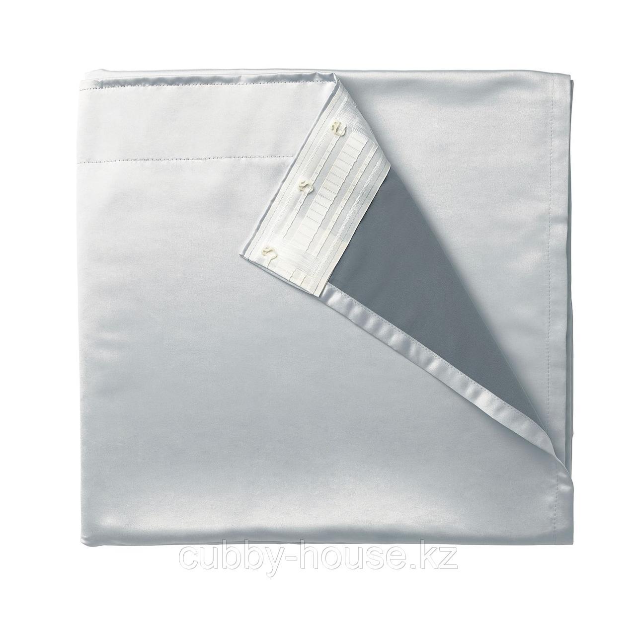 ГЛАНСНЭВА Подкладка д/пары гардин, светло-серый, 143x290 см