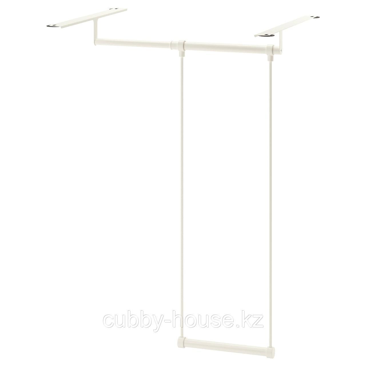 ЛЭТТХЕТ Платяная штанга для каркаса, белый, 35-60x55 см