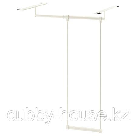 ЛЭТТХЕТ Платяная штанга для каркаса, белый, 35-60x55 см, фото 2