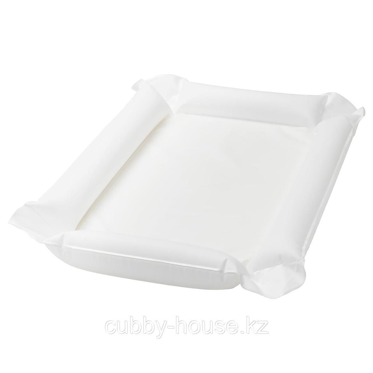 СКЁТСАМ Пеленальная подстилка, белый, 53x80x2 см