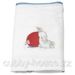 ВЭДРА Чехол на пеленальную подстилку, орнамент «кролики», белый, 48x74 см, фото 2