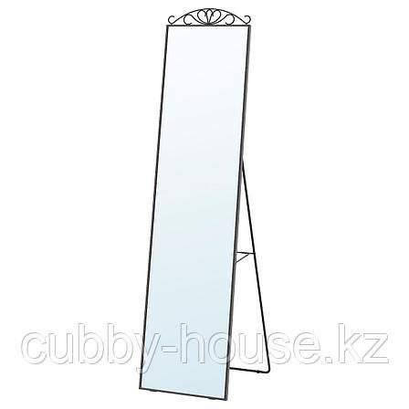 КАРМСУНД Зеркало напольное, черный, 40x167 см, фото 2