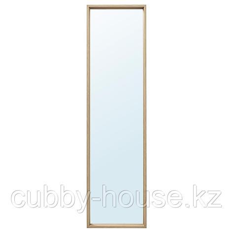 НИССЕДАЛЬ Зеркало, под беленый дуб, 40x150 см, фото 2