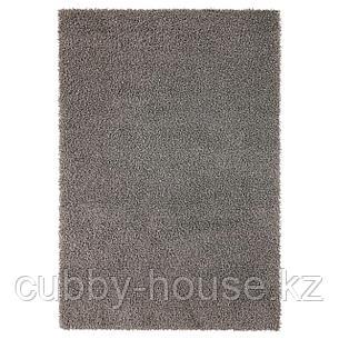 ХАМПЭН Ковер, длинный ворс, серый, 133x195 см, фото 2