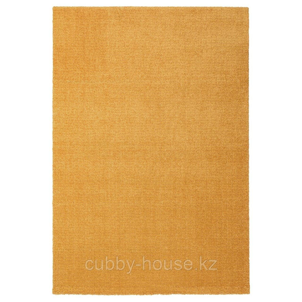ЛАНГСТЕД Ковер, короткий ворс, желтый, 133x195 см