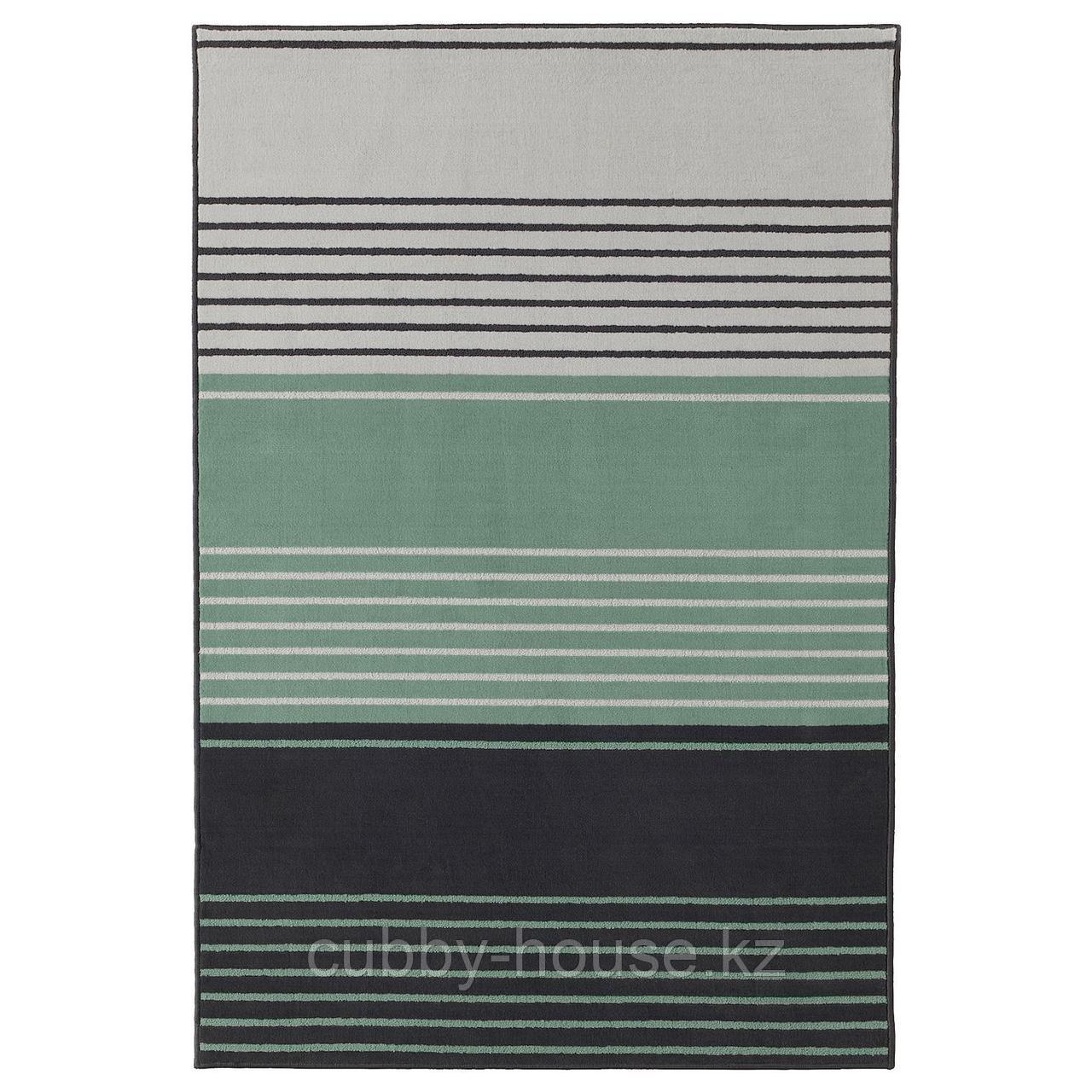 ЛУСТРУП Ковер, короткий ворс, серый, разноцветный, 120x180 см