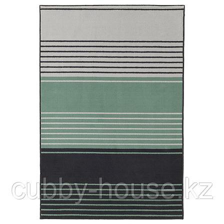 ЛУСТРУП Ковер, короткий ворс, серый, разноцветный, 120x180 см, фото 2