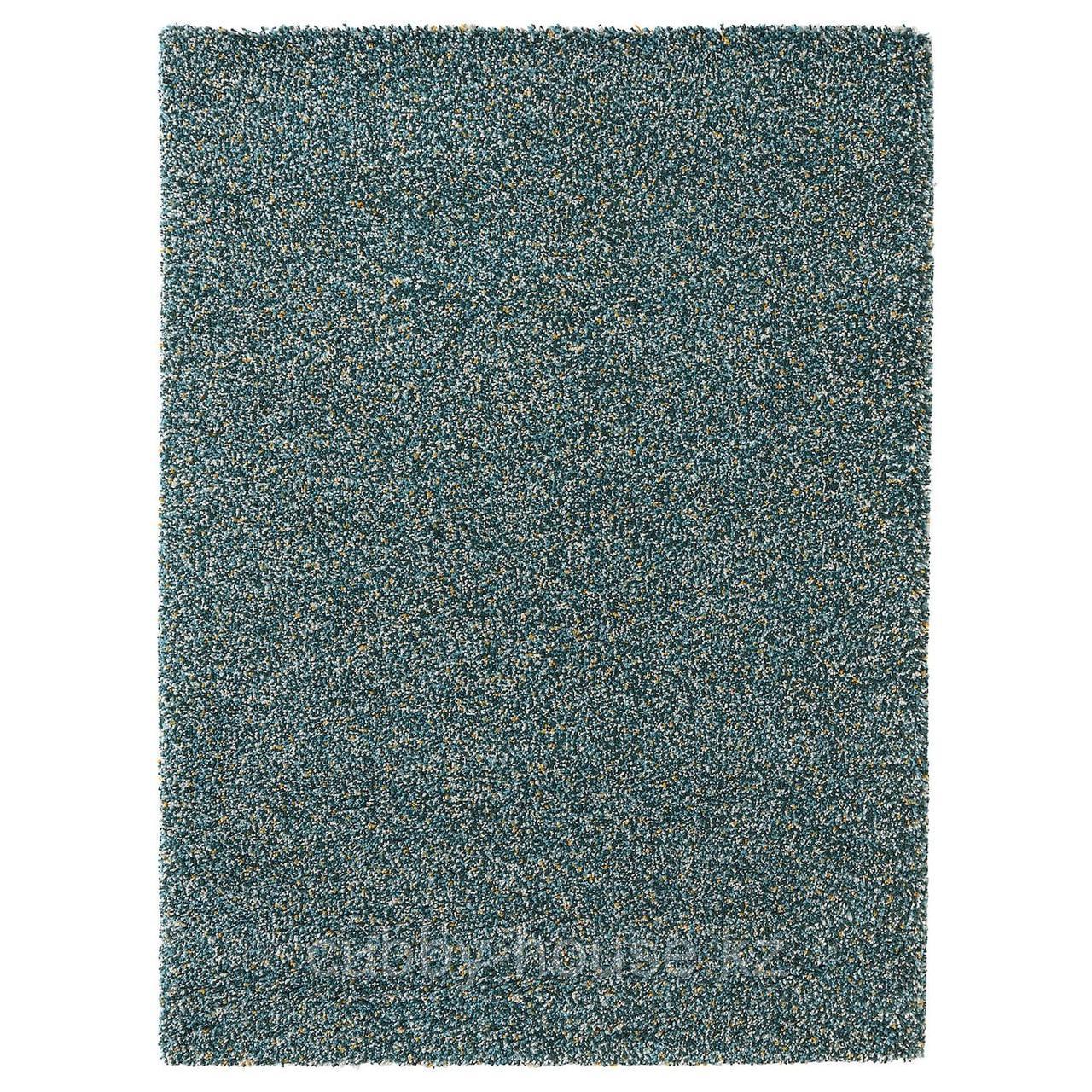 ВИНДУМ Ковер, длинный ворс, сине-зеленый синий, 170x230 см