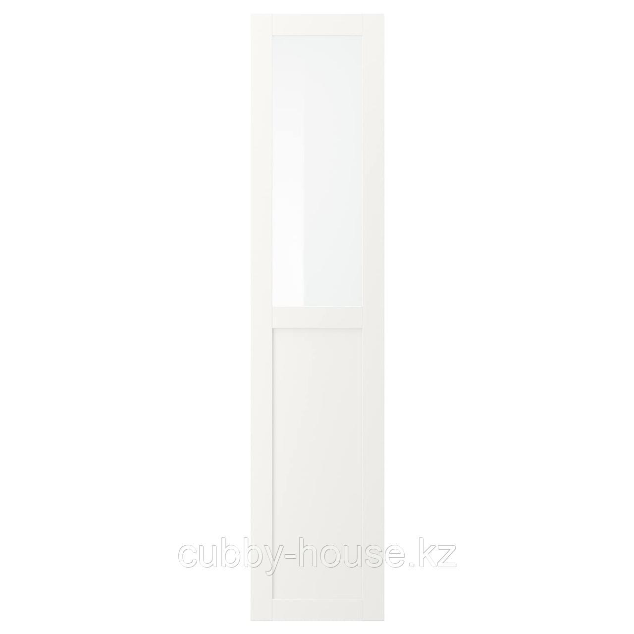 ВЭРД Панельн/стеклян дверца, белый, 40x180 см