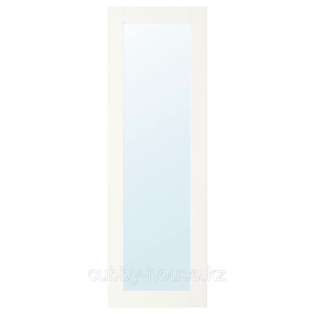 РИДАБУ Зеркальная дверь, белый, 40x120 см