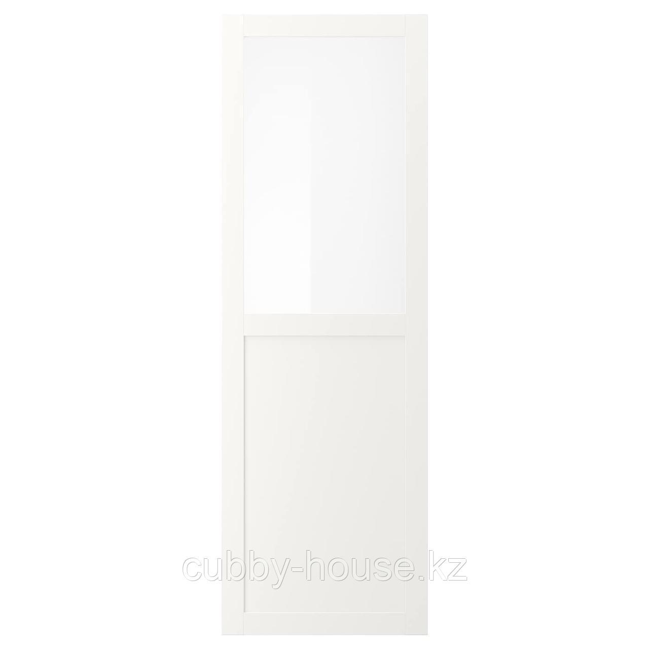ВЭРД Панельн/стеклян дверца, белый, 60x180 см