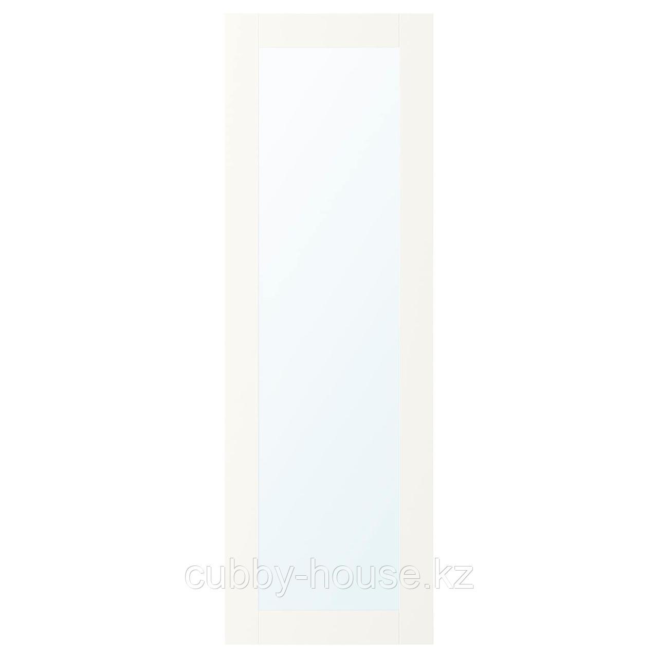 РИДАБУ Дверца с петлями, белый, 40x120 см