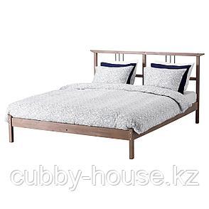 РИКЕНЕ Каркас кровати, серо-коричневый, Лурой, 160x200 см, фото 2