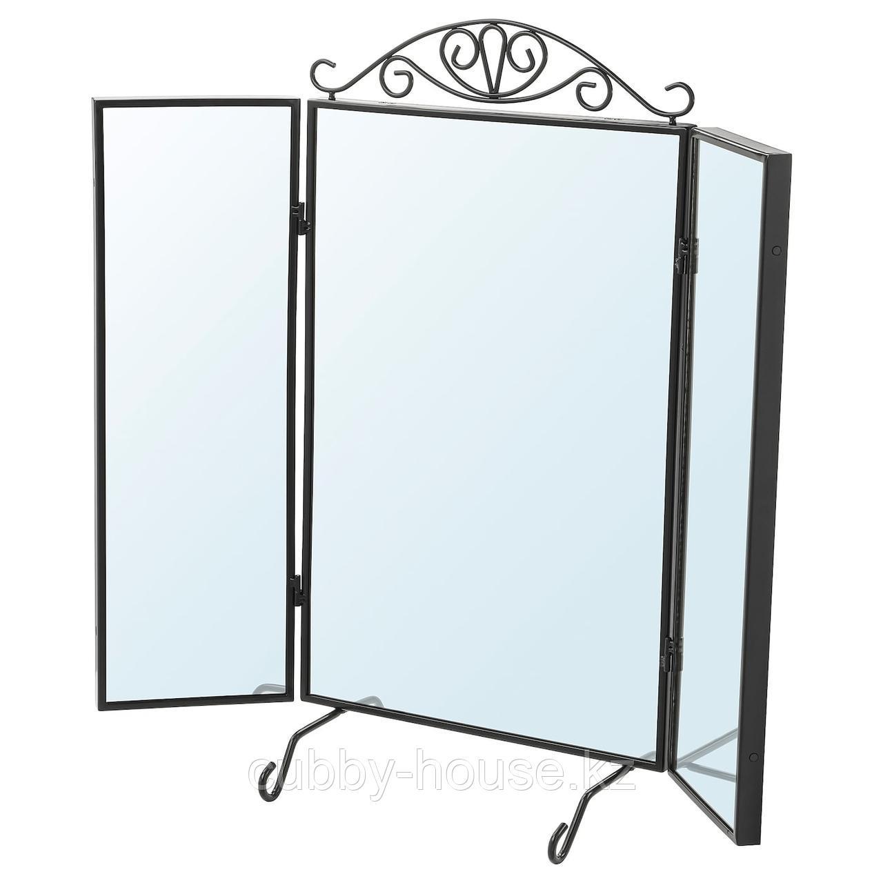 КАРМСУНД Зеркало настольное, черный, 80x74 см