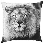 УРСКОГ Подушка, лев, серый, 50x50 см