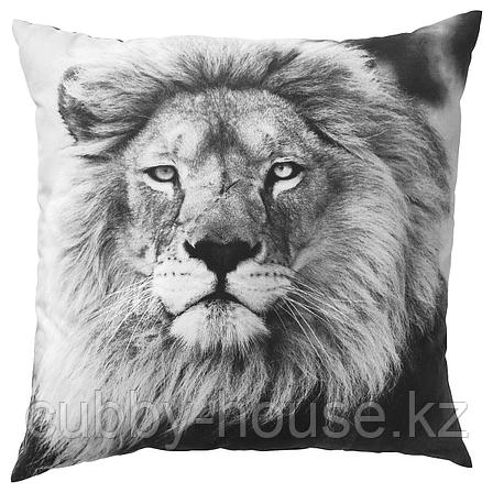 УРСКОГ Подушка, лев, серый, 50x50 см, фото 2