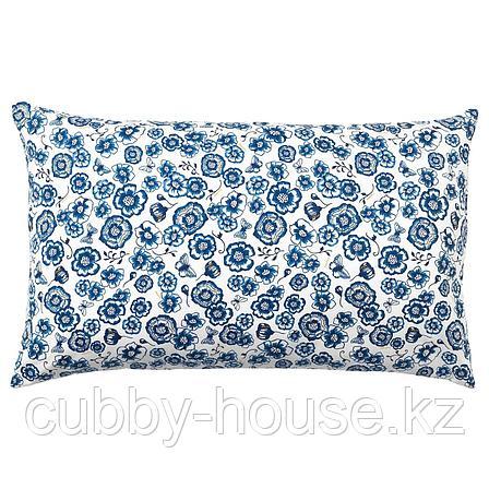СОНГЛЭРКА Подушка, цветок, синий белый, 65x40 см, фото 2
