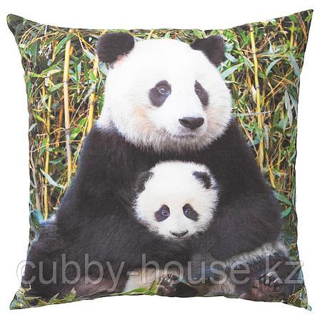 УРСКОГ Подушка, Панда разноцветный, 50x50 см, фото 2