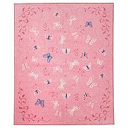 СОНГЛЭРКА Ковер, короткий ворс, бабочка, розовый, 133x160 см