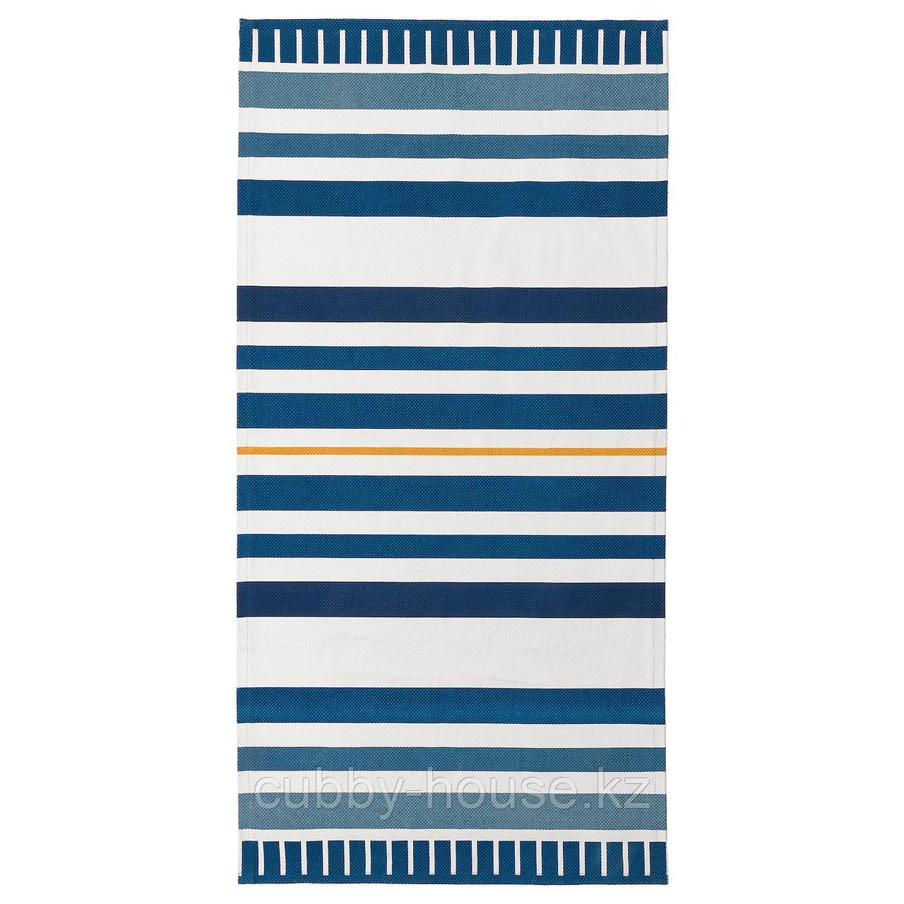 СОНГЛЭРКА Ковер безворсовый, темно-синий, 80x160 см