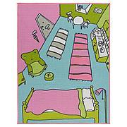 РУММЕТ Ковер, короткий ворс, разноцветный, 100x133 см