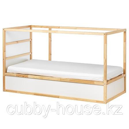 КЮРА Двусторонняя кровать, белый, сосна, 90x200 см, фото 2
