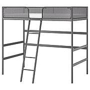 ТУФФИНГ Каркас кровати-чердака, темно-серый, 90x200 см