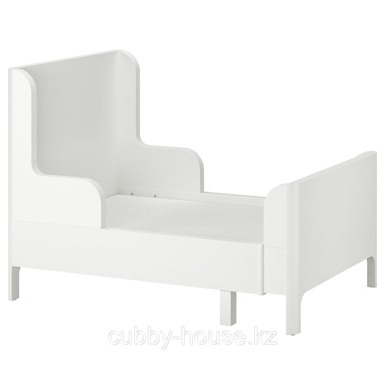 БУСУНГЕ Раздвижная кровать, белый, 80x200 см